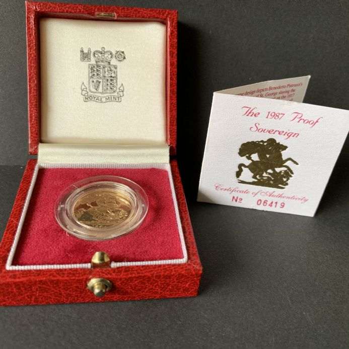 1987  Proof Full Gold Sovereign